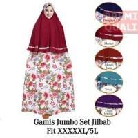 [Lily's Shop] Gamis Jersey Gamis Muslim Syari Set Hijab 2 Layer