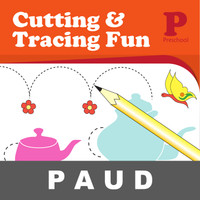Cutting and Tracing Fun Buku Aktivitas Menggambar Mewarnai Anak PAUD