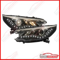 HEAD LAMP - HONDA CRV 2012-2014 - PROJECTOR - ANGEL EYES - LED - YZ