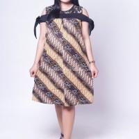 Dress Hamil Batik Menyusui Sabrina Brokat Pita Zenia - BTK 151
