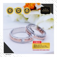 Cincin Kawin Tunangan Perak Emas Putih WG0888
