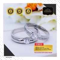 Cincin Kawin Tunangan Perak Emas Putih WG0943