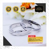 Cincin Kawin Tunangan Perak Emas Putih WG0883