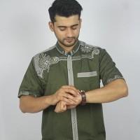 Promo Baju koko Pria Casual Busana Muslim bordir pria Kode AD132 Hij