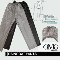 CELANA Jas Hujan Karet OMG WaterProof Raincoat Pants Anti Air PVC