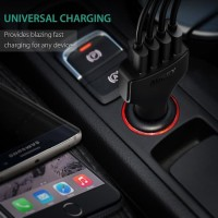 Aukey Charger Mobil 4 Port 55W 2.4A QC 3.0 & AiPower - CC-T9