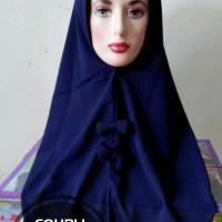 Jilbab Coupli Slup Pita Navy