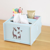 Kotak Tisu Kayu DIY Jerapah