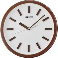 SEIKO CLOCK QXA681 Brown wood-coloured Quiet Sweep Jam Dinding ORI