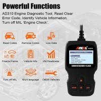 Alat Cek Kondisi Mobil/Ancel AD310 OBD2 Car Diagnostic Scanner