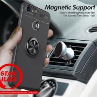Case Autofocus Softcase Magnetic Ring Oppo F7 - Merah
