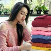 Baju Korea Wanita SABRINA sweater PROMO RAMADHAN