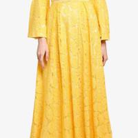 Baju gamis wanita maxi dress bordir floral