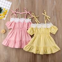 baju bayi dress anak perempuan model sabrina rumbai-rumbai
