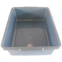 Litter Box Bak Pasir Kucing Abu Abu