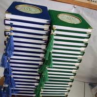 Cetak Buku Yasin Beludru 240 Hal HVS + Siku + Rumbai + Plastik