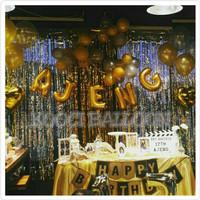 Tirai foil backdrop dekorasi ulang tahun / hiasan ulang tahun
