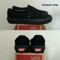 Sepatu Vans Slip On Full black Original Premium Import BNIB
