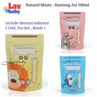 Natural moms Kantong Asi 100ml breastmilk storage bags seperti gabag