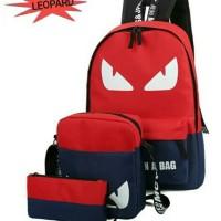 Tas Sekolah Anak Laki-Laki Set 3in1 Tas Backpack Sekolah