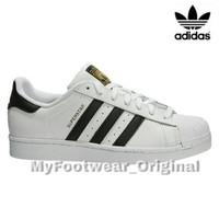 Sepatu Original ADIDAS SUPERSTAR FOUNDATION PACK WHITE BLACK STRIP