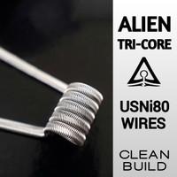 Alien Fused Clapton Coil Pure Nichrome Ni80 - Prebuilt by ackenz