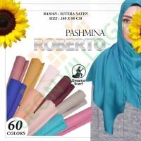 Kerudung Pashmina Satin Polos Rawis ROBERTO by UMAMA Hijab Jilbab