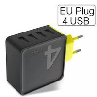 Rock fast charger usb eu plug 4 port 4a