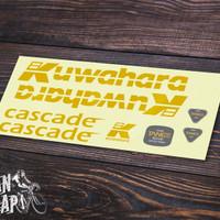 Sticker Decal Frame Sepeda Kuwahara Cascade