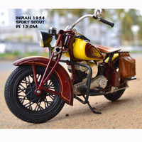 Diecast Miniatur Motor Harley Indian Chief 1941 Classic skala 1/12