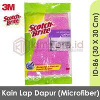 3M Scotch Brite Kain Lap Microfiber Dapur bahan kain microfiber ID-86