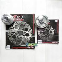 Tromol Set Disc Piringan Depan Belakang Suzuki Satria 150 FU Driv