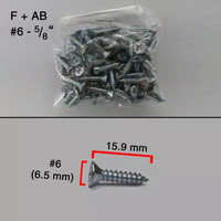(#6 x 1.5 cm) MOON LION Taping Screw Sekrup Skrup Kayu FH + (10 PCS)