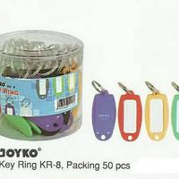 KEY RING JOYKO KR 8 ISI 50 / GANTUNGAN KUNCI / NAME TAG KUNCI GROSIR
