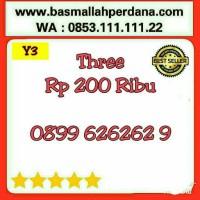 Nomor Cantik Three 11 digit seri ABABAB 626262 0899 63 62 62 9 Y5 977