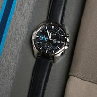 Jam Tangan Pria Casio Edifice EFR-556 L Leather Black Original BM