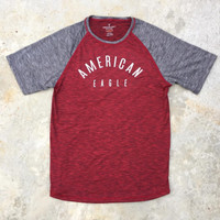 American Eagle Outfitters AE Active flex crew T-shirt Merah Abu