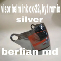 kaca helm / visor helm ink cx22, kyt romio, bmc, nhk, mds, ( silver )