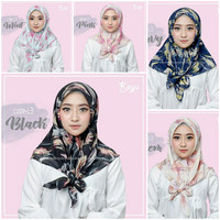 Hijab jilbab kerudung segi empat bahan Vine murah motif abstrak SF22