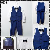 063N 6-11 THN SETELAN VEST ANAK / ROMPI ANAK GOOD QUALITY NAVY BLUE