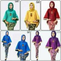 Kebaya Modern Batik Keluarga Sarimbit Setelan Baju Wanita jumbo