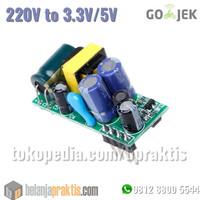 Mini Power Adaptor AC 220v to DC 3,3v 5v Power Supply Module 500mA