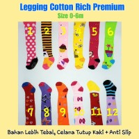 Legging Tutup Kaki Cotton Rich Premium Motif Lucu Celana Anak Bayi 0-6