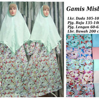 Setelan Gamis Misbee / Misby Motif / Corak Elegant plus Khimar Part 4