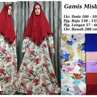Setelan Gamis Misbee / Misby Motif / Corak Elegant plus Khimar Part 1