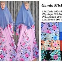 Setelan Gamis Misbee / Misby Motif / Corak Elegant plus Khimar Part 3