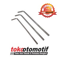 Kunci L Panjang Set 3 pcs Tekiro ( 4mm, 5mm, 6mm ) Extra Long Hex Key