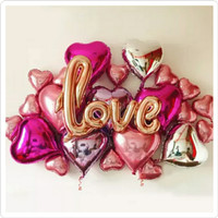 Balon foil love / balon foil hati / balon anniversary