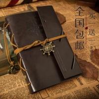 Buku Catatan Binder Kulit Retro Pirate - Coffee