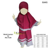 Gamis anak syar'i/baju muslim anak ukuran 0-3